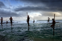 Stilt Fishermen of Kathaluwa, Sri Lanka