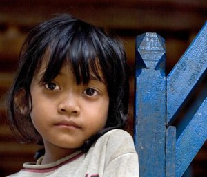 A Cambodian child