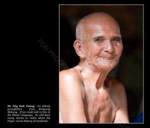 An elderly grandfather