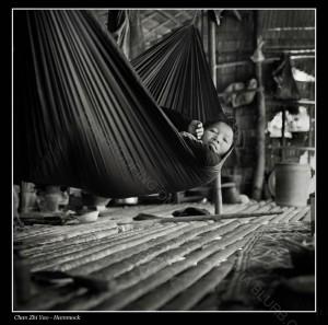 Boy in a hammock - Hasselblad, 80mm, Ilford HP5