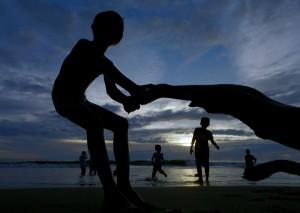 Silhouette at Padang Beach