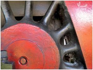 Steam Locomotive Wheel, Dalat Railway Station, Vietnam