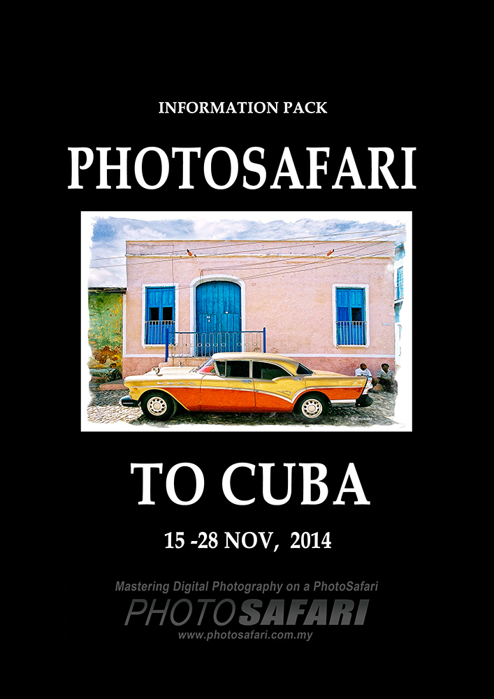 Cover page of  our PhotoSafari to Cuba Information Pack.