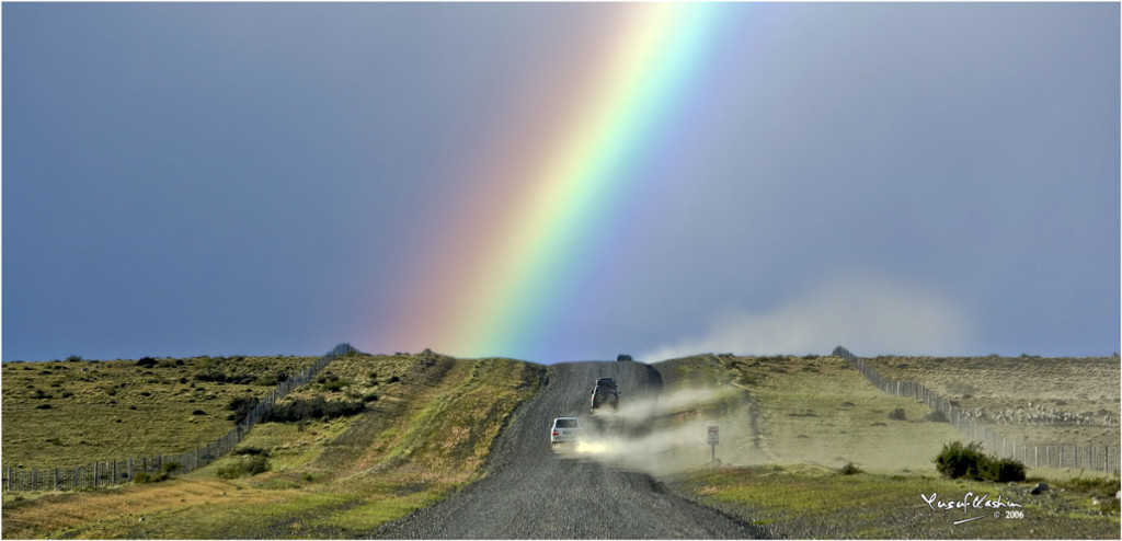 Rainbow over Route 40, Patagonia
