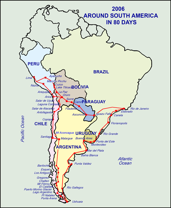 Nostalgia - Around South America in 80 Days.