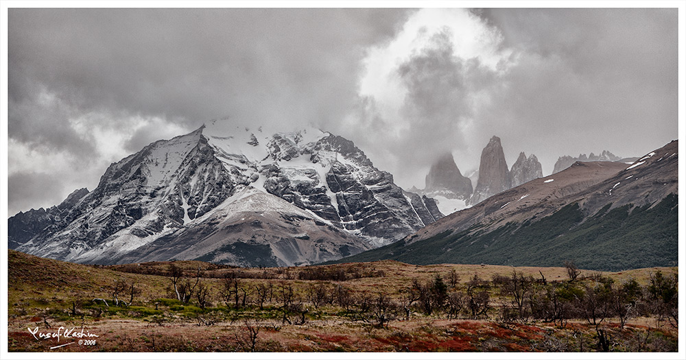 The Tres Torres or Three Towers in the orres del Paine National Park