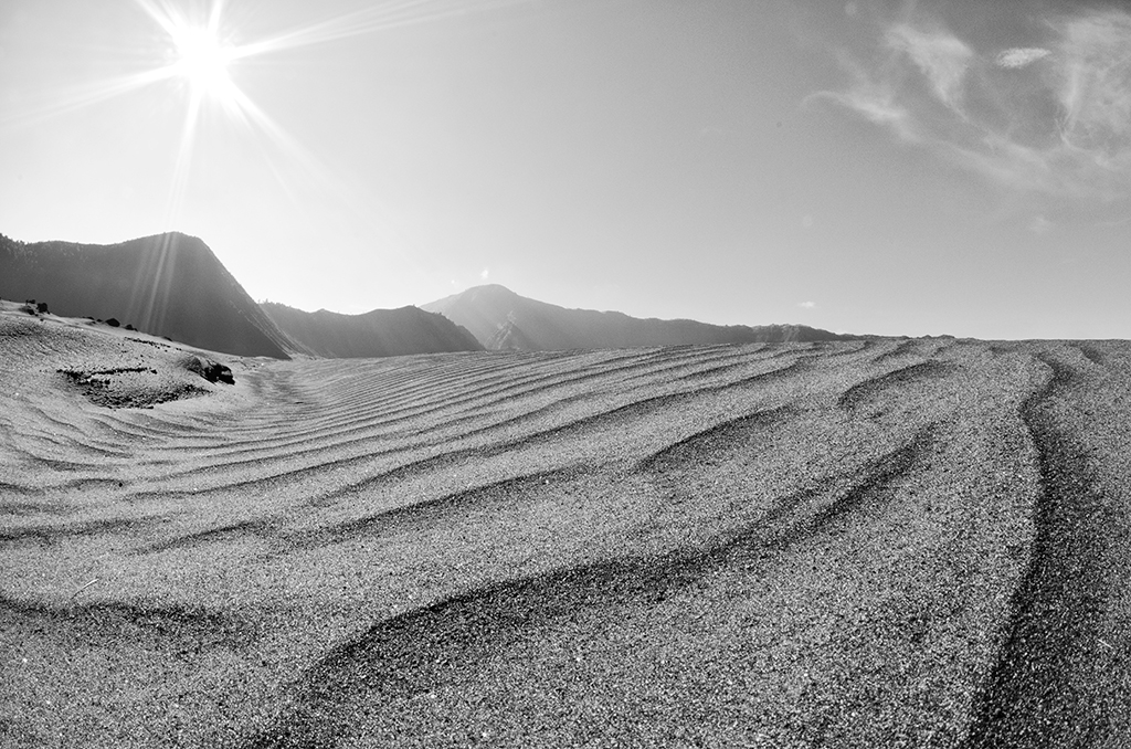 Another view of the desert like landscape at Mt Bromo