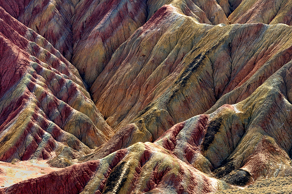 Magnificent colors of the rainbow mountains