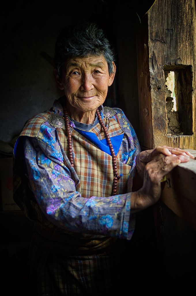 Bhutanese Lady at the village
