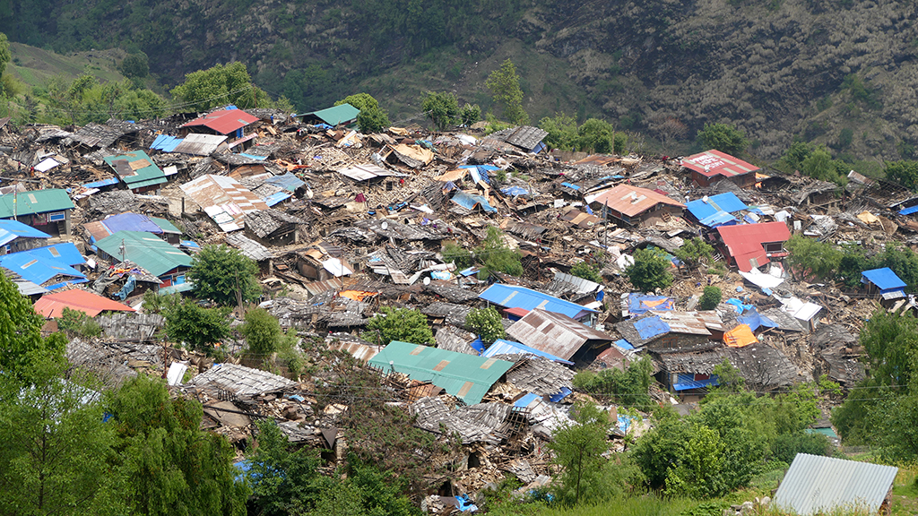 Landslides caused by the earthquake devastated the whole village