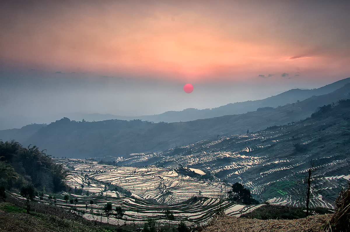 Sunrise at the Hinghe Rice Terraces