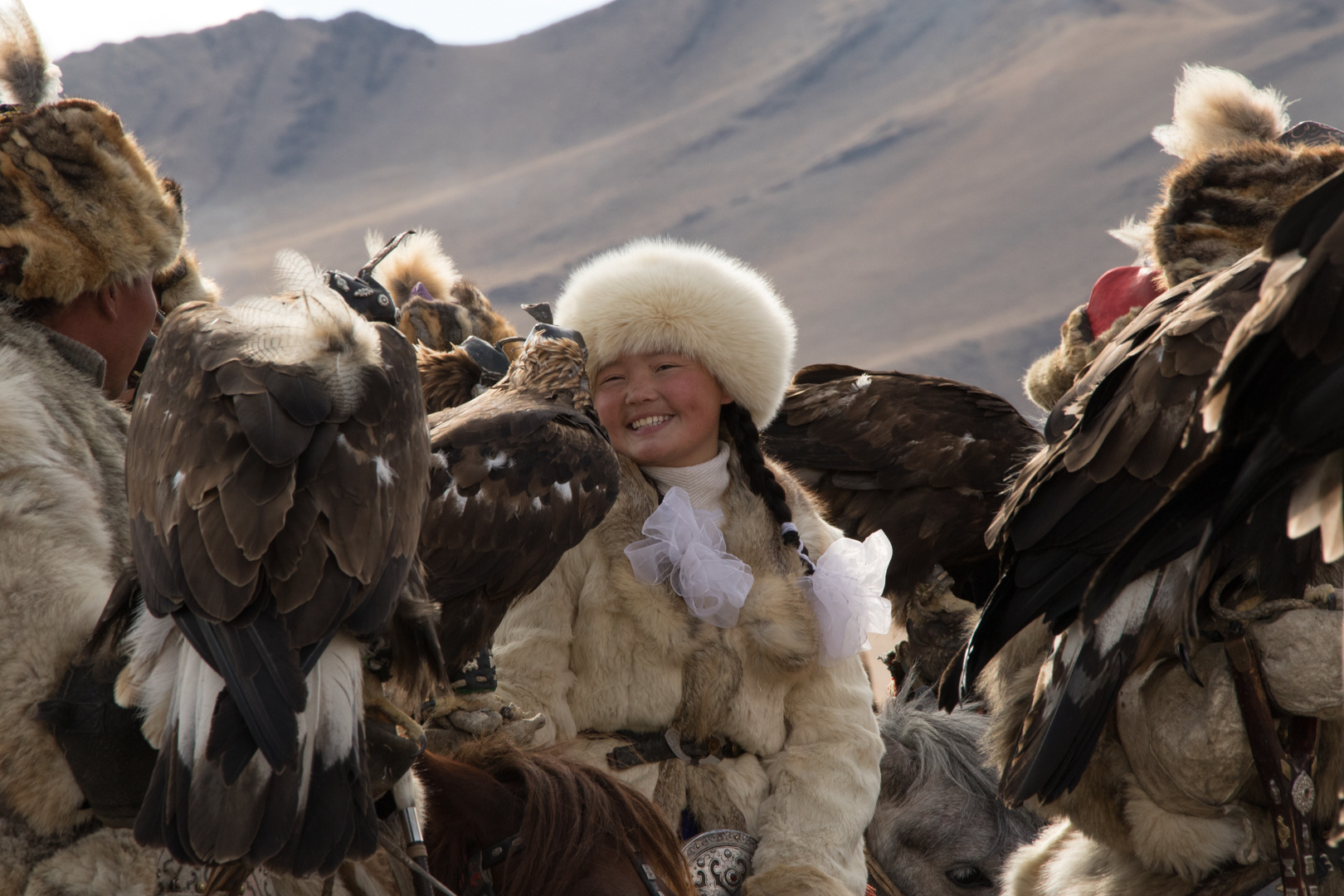 Breaking of tradition, the first female Eagle Huntress